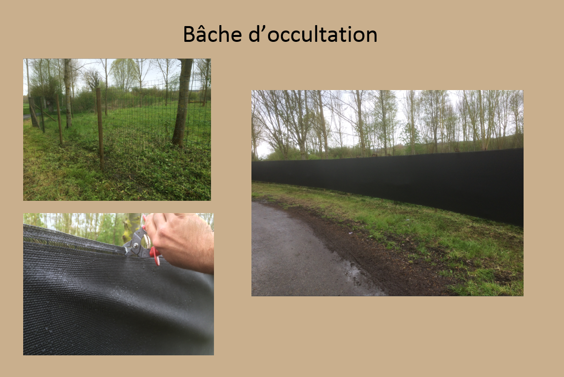 Bâche d'occultation